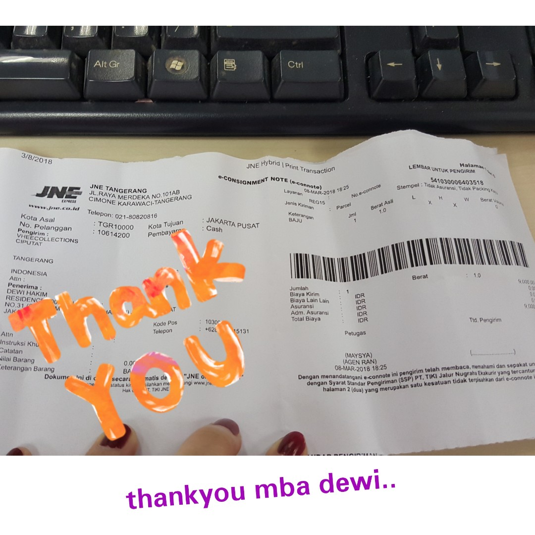 Thankyou mba dewi for your order