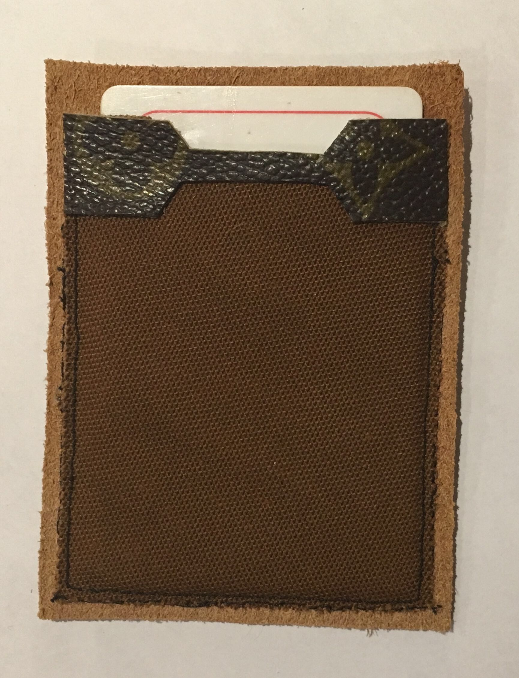 *Upcycled* LOUIS VUITTON Card/Money Holder