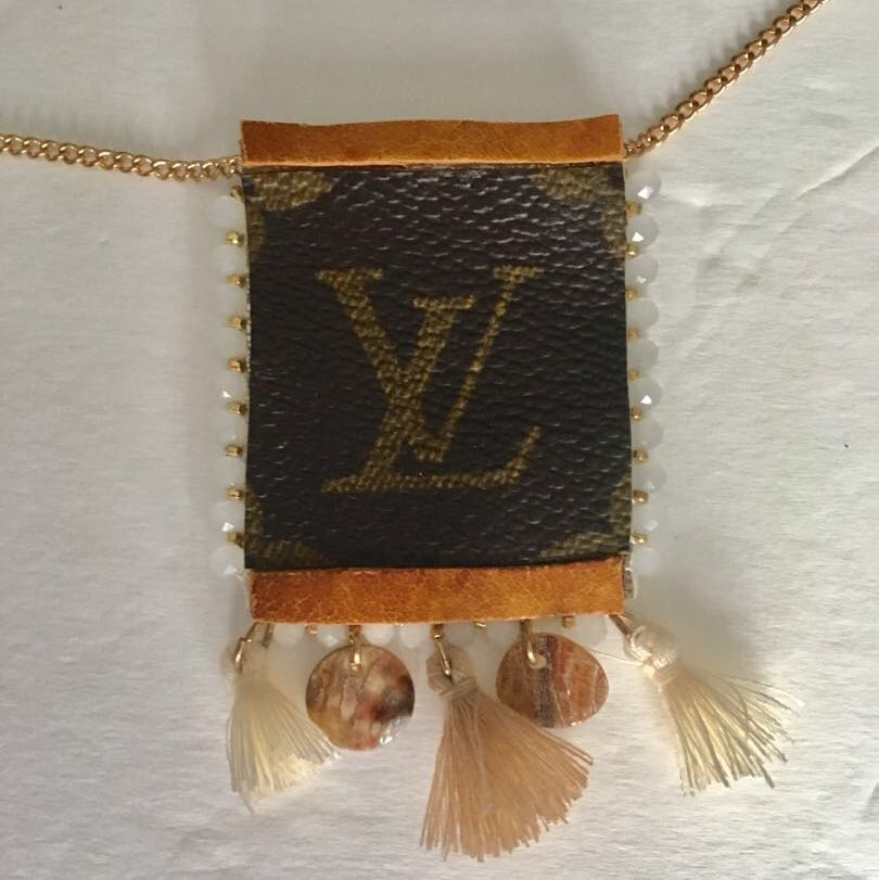 Upcycled LOUIS VUITTON Necklace