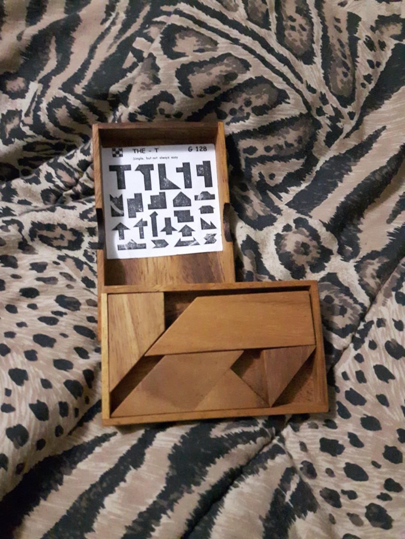 Vintage block puzzle game toy
