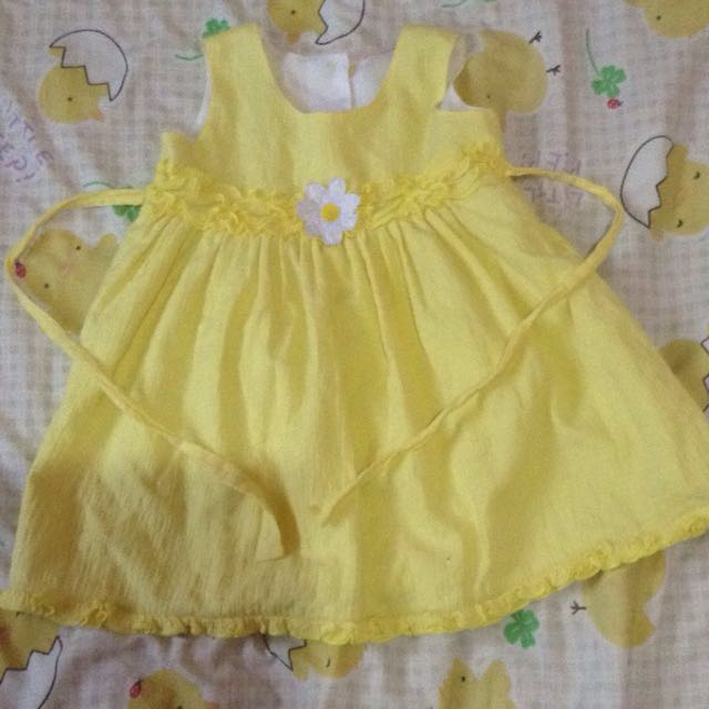 Yellow dress for 1 yr old