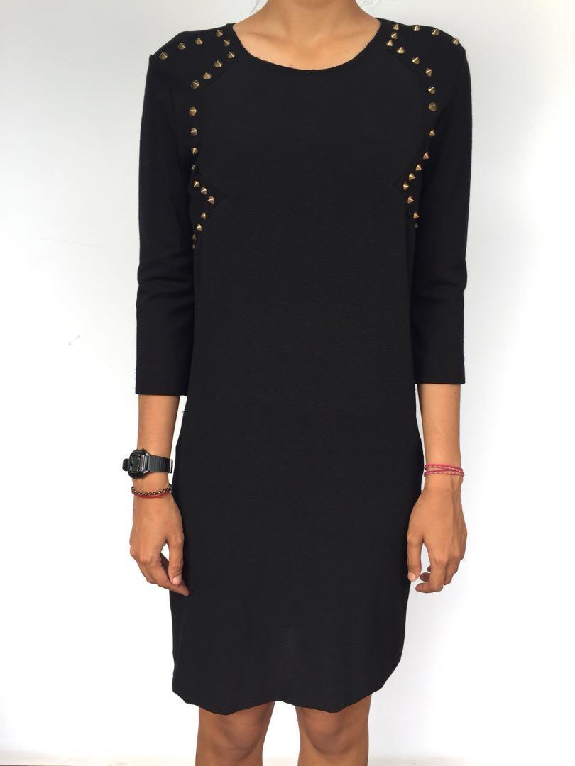 ZARA - Half-sleeve Studded Dress