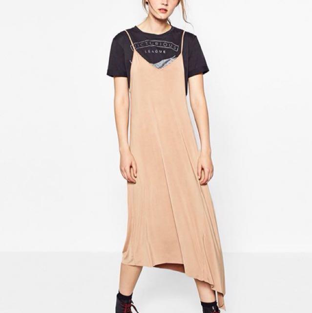 Zara Asymmetrical Slip Dress