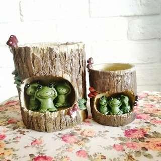 Cute animal pots - 1 set
