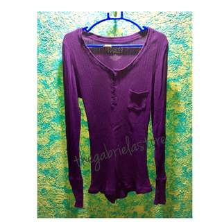 Long Sleeves Violet and Yellow
