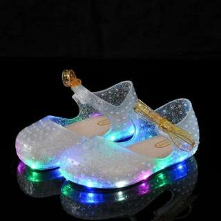 Girls jelly shoes (lights)