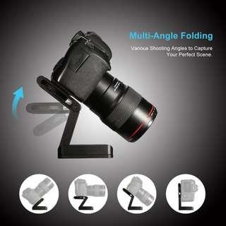 Plastic Lightweight Flex Pan 270 Degree Tilting Folding Rotating Tripod Head Folded Z Shape Pan/Tilt Ball head Plate Tripod Adapter Mount GoPro DSLR mirrorless Camera & Camcorder
