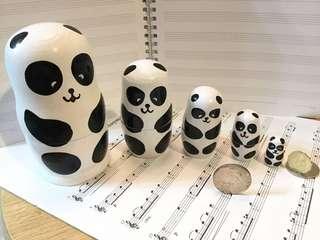 俄羅斯娃娃 - 國寶大師熊貓造型