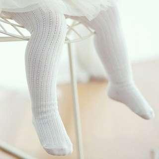 🐰Instock - baby white legging, baby infant toddler girl children glad cute 123456789 lalalala