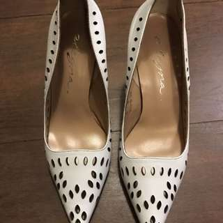 White cut out heels - new!