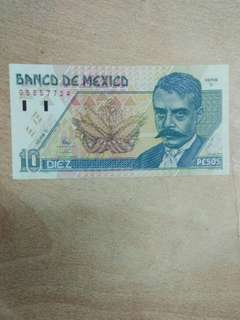 Mexico 10 pesos 1994 series D