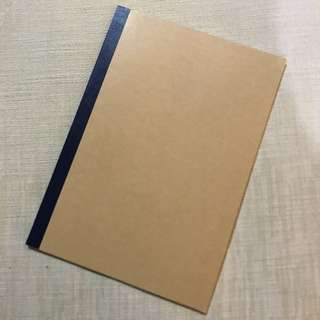 Muji Notebook - Plain Cover Lined