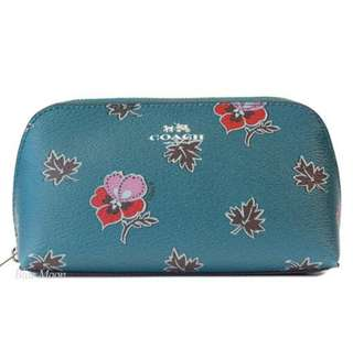 Authentic COACH Floral Travel Pouch, brand new!