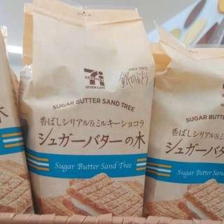 🔥日本7-11限定🔥砂糖奶油樹白巧克力夾心餅乾