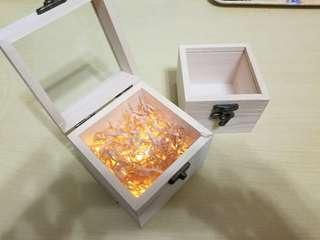 小木盒連LED燈