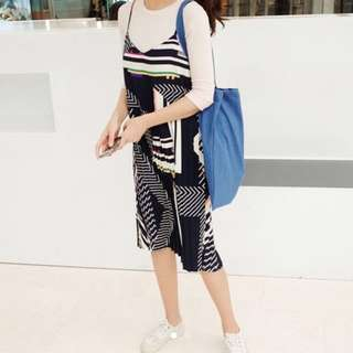 Ulzzang Style Retro Design Pleated Dress