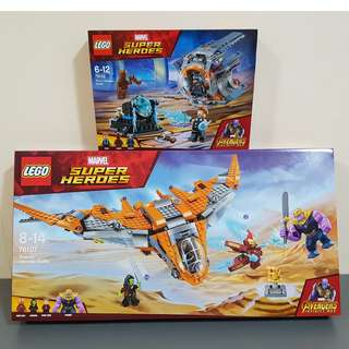 Lego 76102 76107 Marvel Milano Thor's Weapon Quest Thanos Ultimate Battle Avengers Infinity War - Brand New MISB