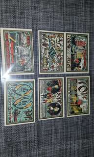 罕有 1921年 德國馬克 全套6張