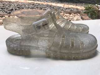 Gliterry Transpararent Jelly Shoes