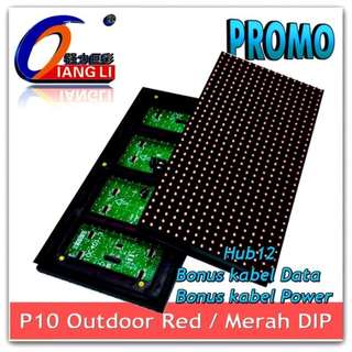 PROMO Grosir LED Panel P10 Qiang Li - Red Outdoor