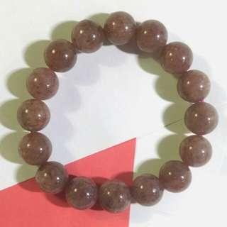 天然草莓水晶石手串手鍊鏈12mm natural strawberry crystal bracelet