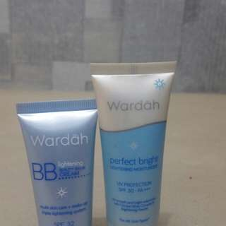 Paket wardah...Perfect bright,BB lightening