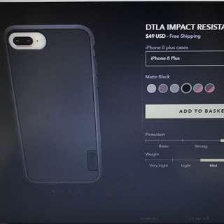 Brand New Casetify DTLA Impact Resistant iPhone 8 Plus Case