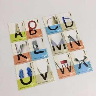 🎈原價分享 2005字母郵票12個