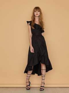 S, MGG PHOEBE Toga Maxi With Sash In Black