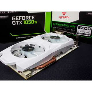 GALAX GTX 1050 Ti 4GB EXOC White Graphics Card