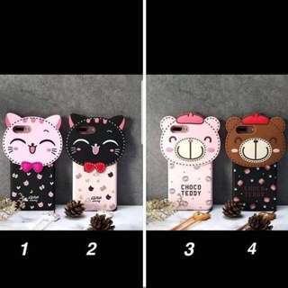 New Softcase Line Brown & Lucky Cat For Samsung J2 Prime