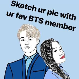 Sketch with BTS member