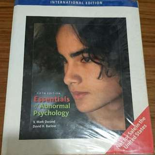 Essentials Of Abonormal Psychology