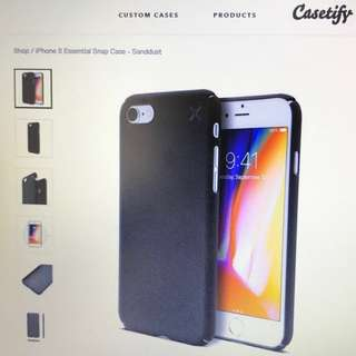 Brand New Casetify iPhone 8 Essential Snap Case (Sanddust)