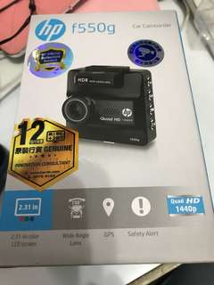 HP f550g 行車記錄器 車cam