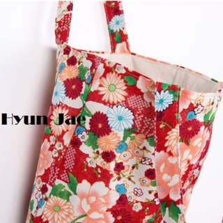 Hyun-Jae Floral Canvas Tote Bag