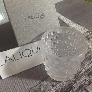 LALIQUE's Crystal Candle Holder