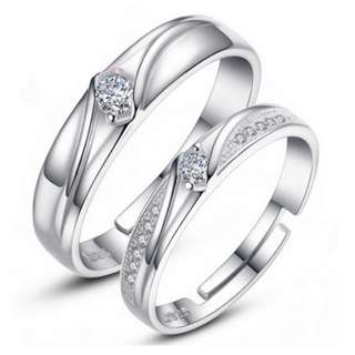 Sliver 925 Couple Ring(CR-004)