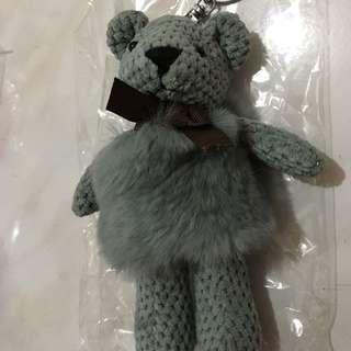 兔毛熊鑰匙圈