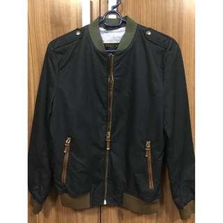 Zara Man denim couture jacket L