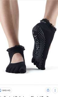 Toesox - Bella Full Toe - Black Lace