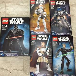 Lego Star Wars set of 5 - 75107, 75108, 75109, 75110 and 75111