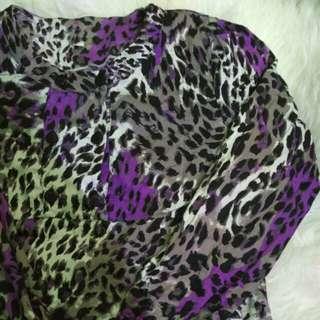 Tunik blouse katun jepang macan loreng