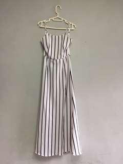 MDS Stripe summer dress