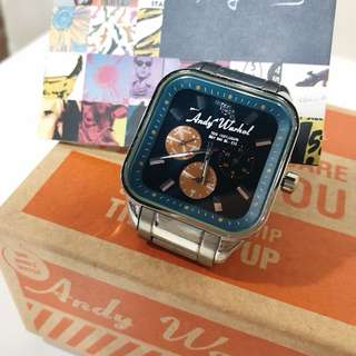 Andy Warhol stainless steel unisex watch