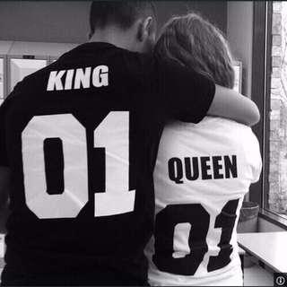 King Queen Couple Tee
