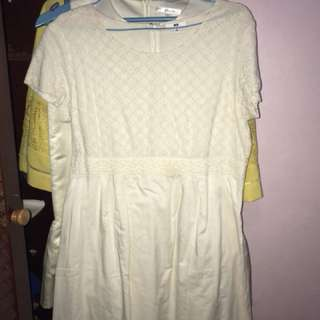 Dress Putih Tulang