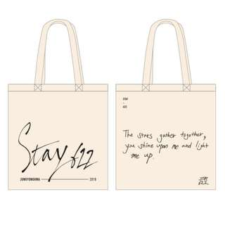 [Pre-order] Jung Yong Hwa 2018 STAY 622 Eco Bag (Ivory/Deep Green)