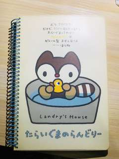 Sanrio 小浣熊 圈圈簿 用過 仲淨好多頁 膠面唔完美