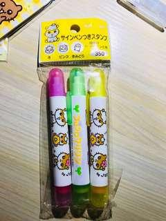 CK鼠 螢光筆+印仔 試印一次仲有色